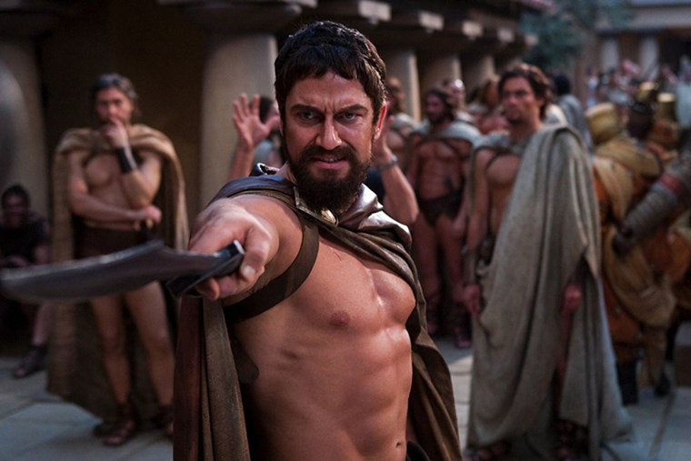 Gerard Butler six-pack