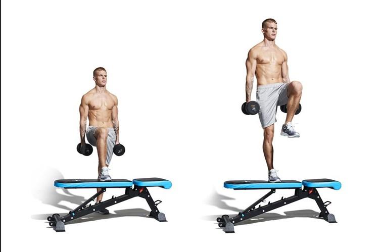 Step-ups με σηκωμένο γόνατο