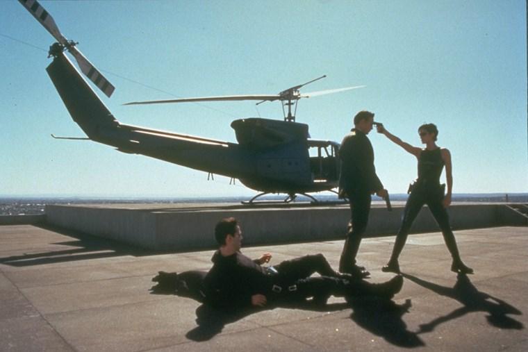 Carrie Ann Moss Keanu Reeves Matrix 13